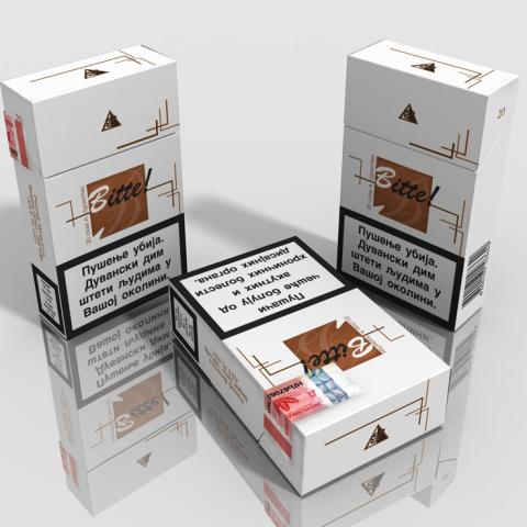 Bitte cigarette concept